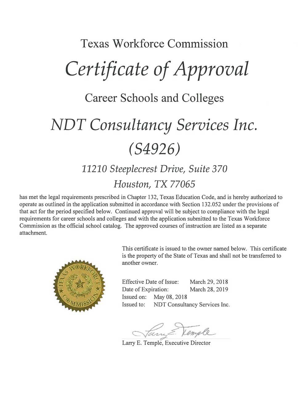 TWC Certificate 2018-2019